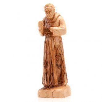 Padre Pio Statuetta San Pio Pietralcina legno Statua San Pio Pietralcina in…