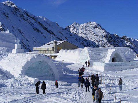 Ice Hotel, Balea Lake, Romania.