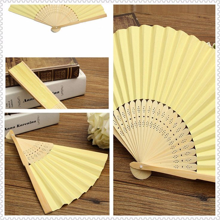 Candy Color Pocket Folding Bamboo Fan Paper Hand Fans Wedding Party Decoration Favor at Banggood