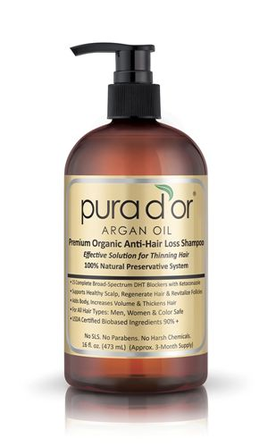Picture of Gold Label Organic Argan Oil Based Anti-Hair Loss Shampoo
