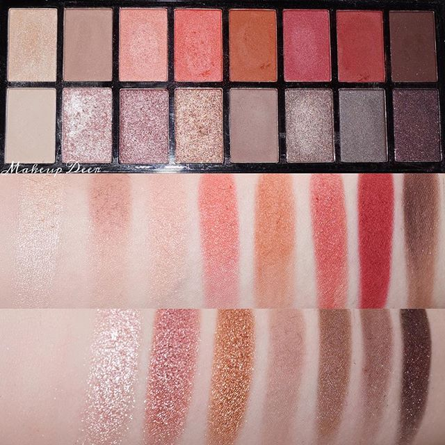Looooove the colors in @makeuprevolution new-trals vs neutrals palette  this is one of my most used @makeuprevolution palettes. Everytime i play with it i get totally amazed about the colors ✨✨ (the swatches may appear alot more orange/warmer on me then on others, just because im so pale and have a very pink undertone ) I wish that some of the matte brown shades would be a tad more pigmented but the beauty of the other colors really makes this palette to such a hit!  Which is your ...