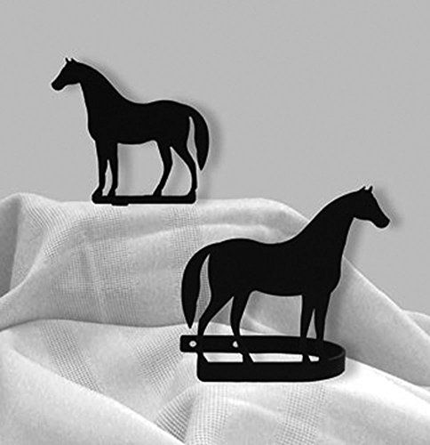Wrought Iron Standing Horse Tie Backs At Timeless