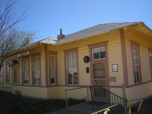 Tombstone Library (originally a railroad depot), Tombstone, AZ. Via thornydalemapco on Flickr.: Book Stores, Tombstone Library, Library Originally, Photo, Arizona Libraries, Railroad Depot