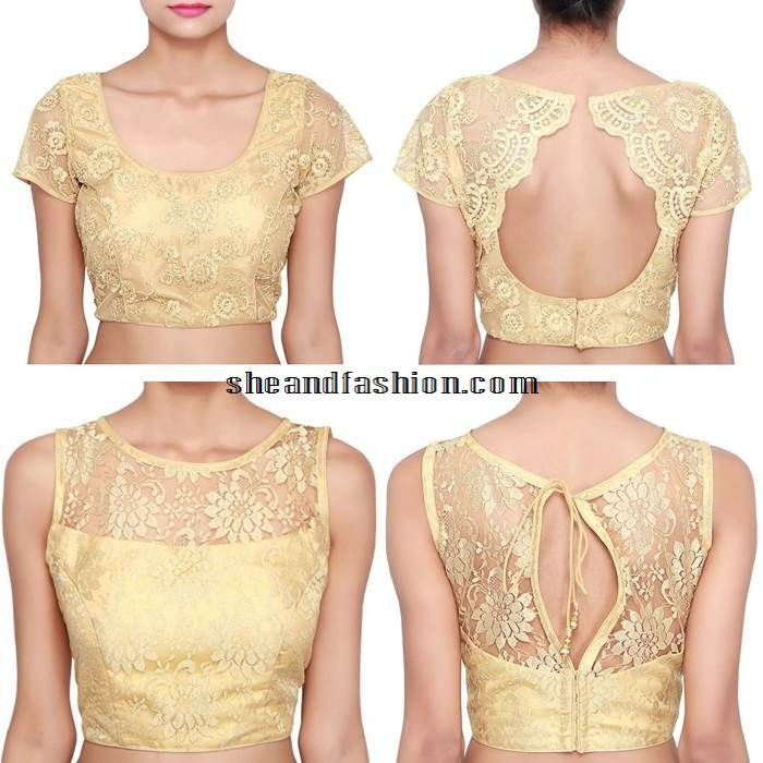Best 25  Golden blouse designs ideas only on Pinterest | Blouse ...