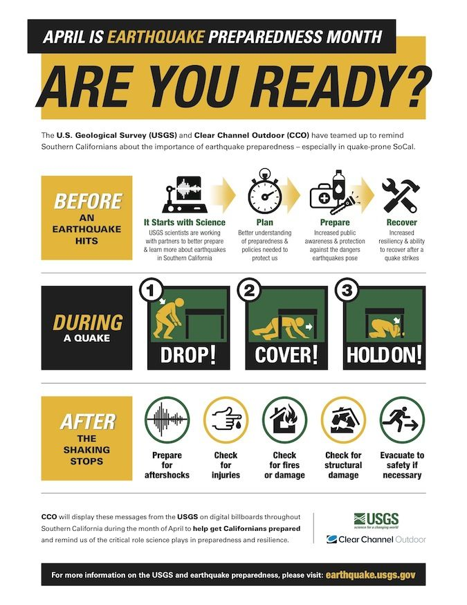 Check out this new Earthquake Preparedness Month poster
