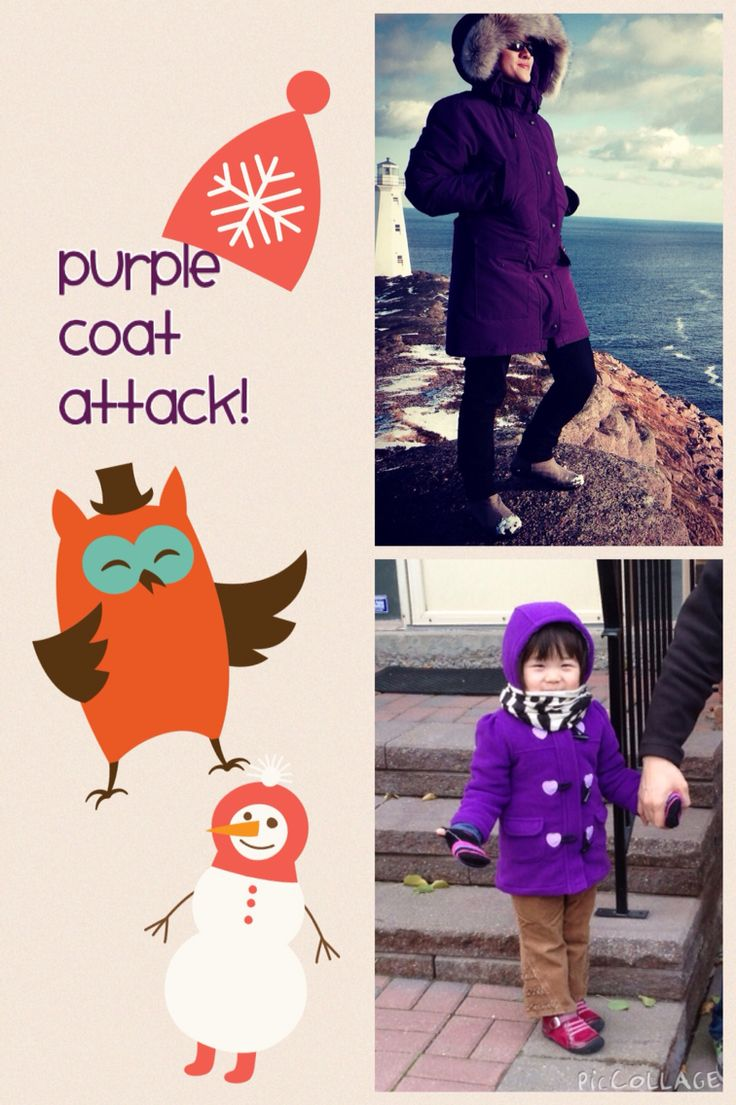 Purple coats