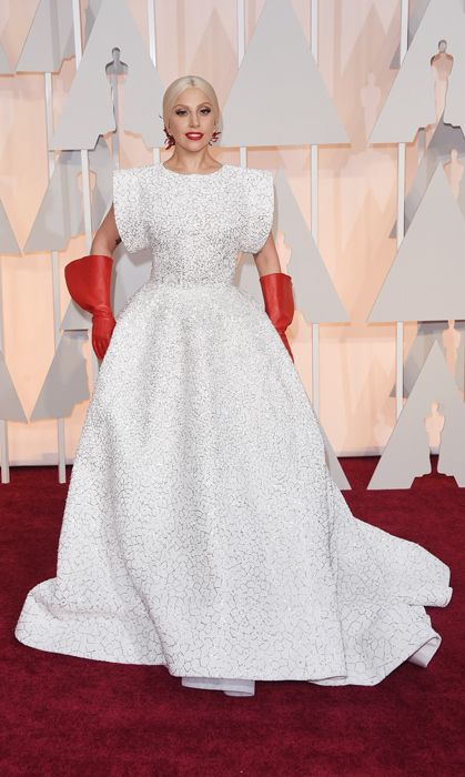 All the red carpet looks from the 2015 Oscars: Lady Gaga in custom Alaïa. Photo: Getty