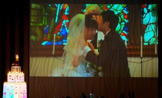 【福岡県久留米市 ホテルニュープラザKURUME・ウェディング】K様パーティー風景 ライブエンドロール
