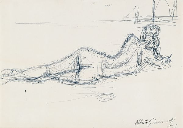 Reclining Nude from the Back - Alberto Giacometti