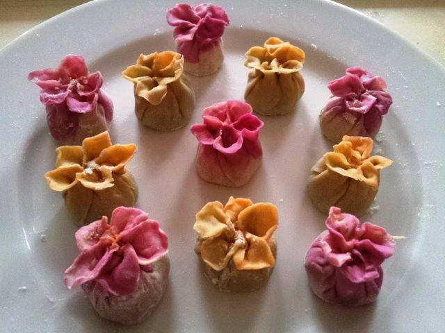 Floral spiced fusion dumplings