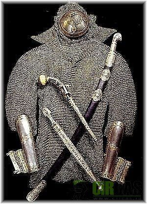 Circassian battle gear Черкеское оружие