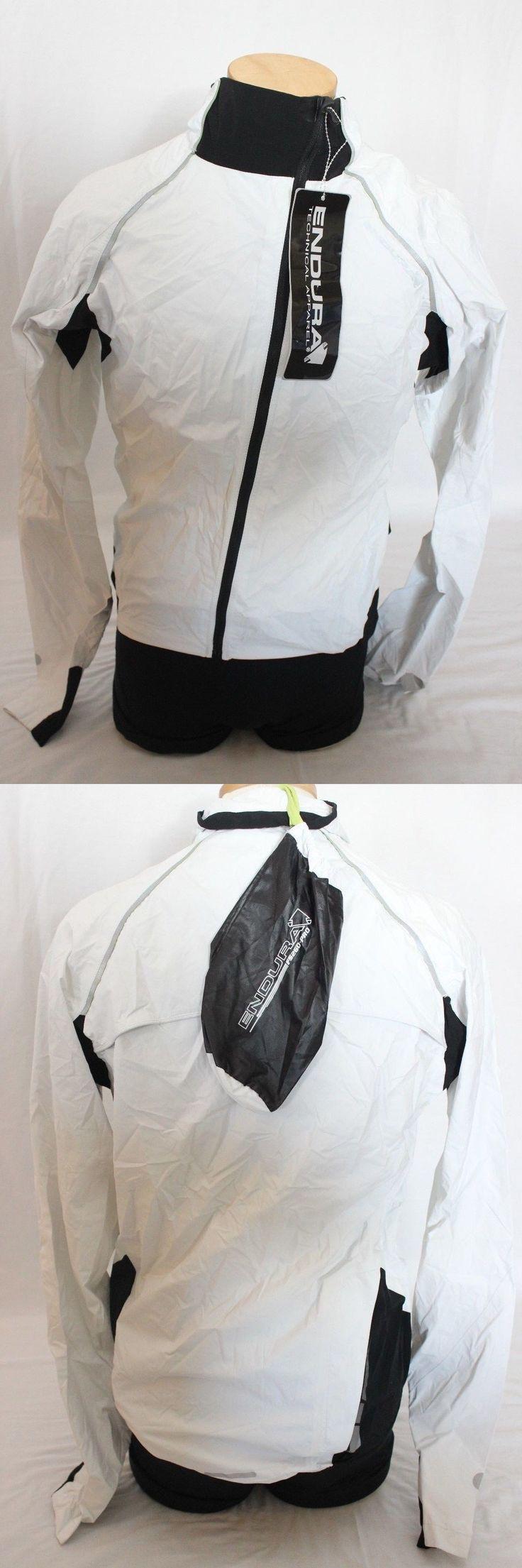 Jackets 36124: New Endura Men S Helium Cycling Bike Medium Jacket Top Black White Waterproof -> BUY IT NOW ONLY: $70 on eBay!