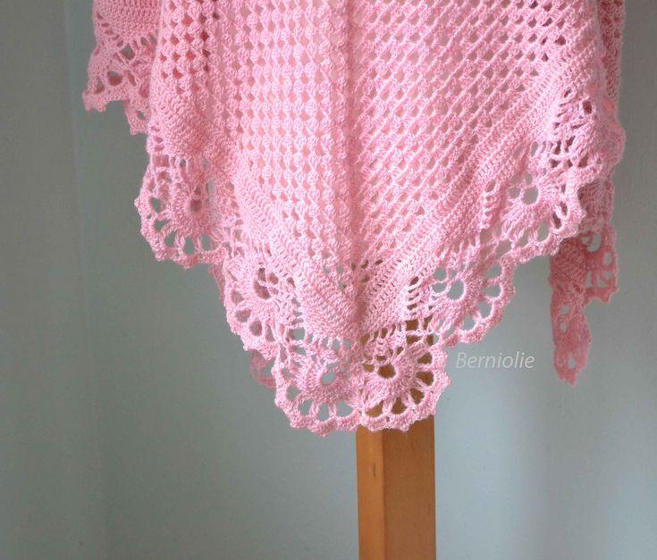 821 Pink crochet shawl | Bernadette Ambergen | Flickr