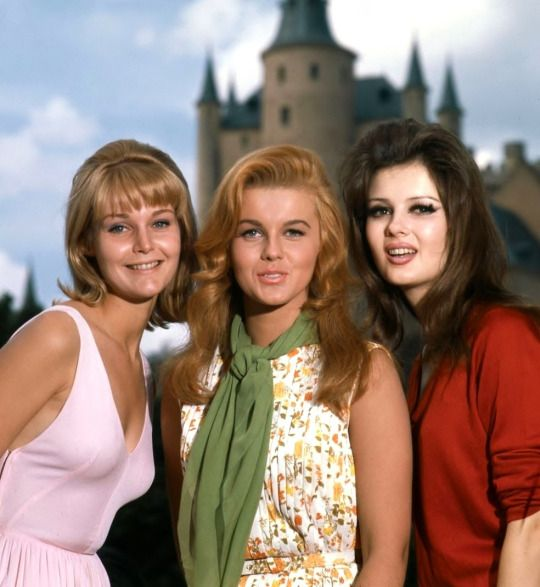 Carol Lynley, Ann-Margret, and Pamela Tiffin in the 20th Century Fox romantic comedy The Pleasure Seekers, 1964.
