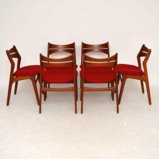 Danish Teak Retro Dining Chairs Erik Buck For Sale London