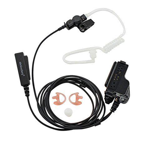 2-wire clear tube earpiece For Motorola MT2000 HT1000 XTS3000 XTS3000 GP1200