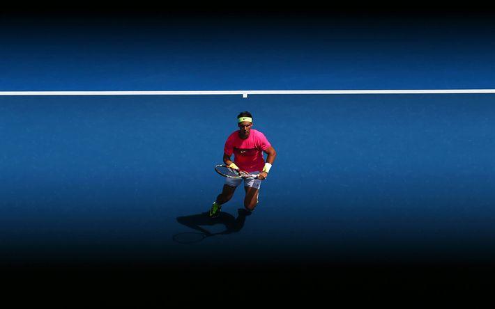 Download wallpapers Rafael Nadal, 4k, tennis court, spanish tennis player, tennis, ATP