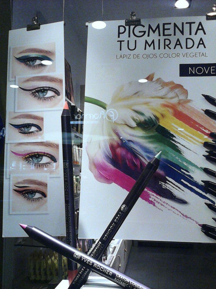 """¿Llegaremos a llevar  """"la mirad"""" tan """"pigmentada""""? Otro recurso retórico y un coloreado anuncio."""