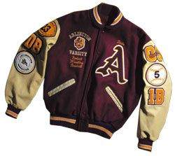 letterman jacket patch placement