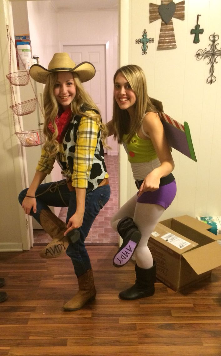 Buzz and woody woman's Halloween costume 2014 DIY handmade, couples costume, friends costume, easy to make