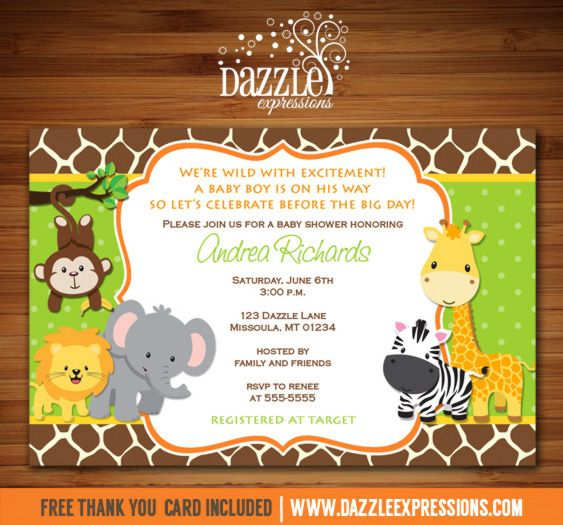 Baby Shower Invitations Monkey