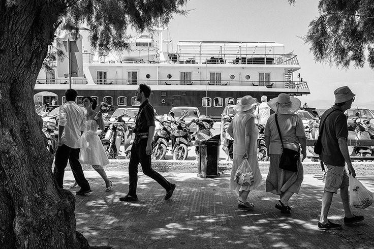 Civil wedding Aegina Island Greece | Black and white documentary wedding photography