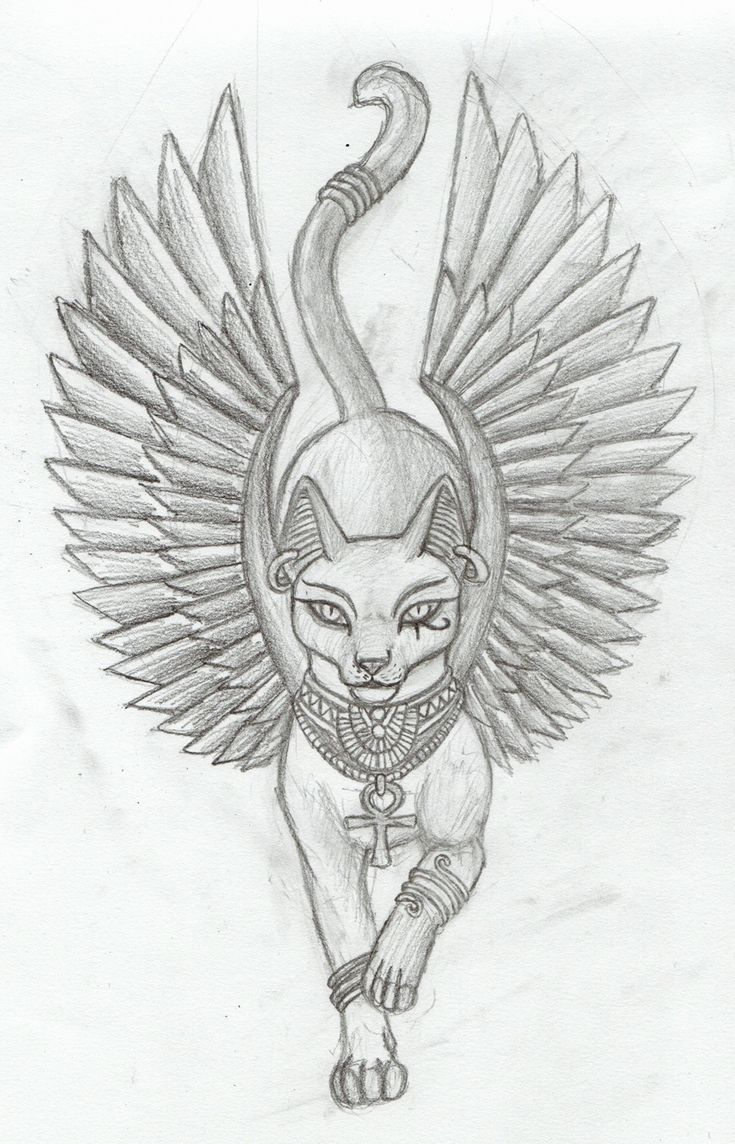 Egyptian cat tatoo! This is awesome!