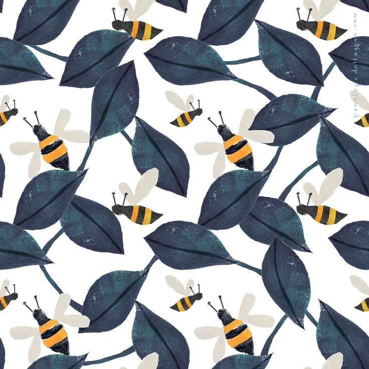 bee pattern by penelope dullaghan