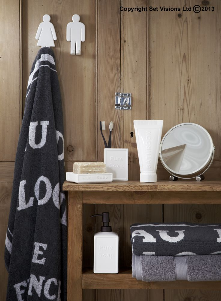 Homewares for a national company. A relaxed Scandinavian trend bathroom with white soap dish, ceramic toothbrush holder and bespoke hooks http://www.setvisions.co.uk/