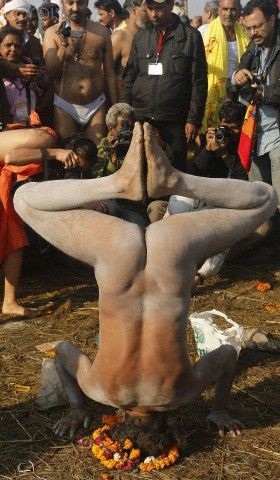 Naked Yoga.....that is shocking