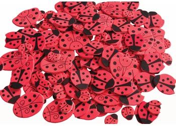 Assorted Adhesive Foam Ladybugs. These cute foam ladybug stickers add a special touch to any craft project.
