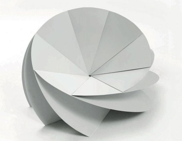 Bloom Chair, a folded chair using origami techniques