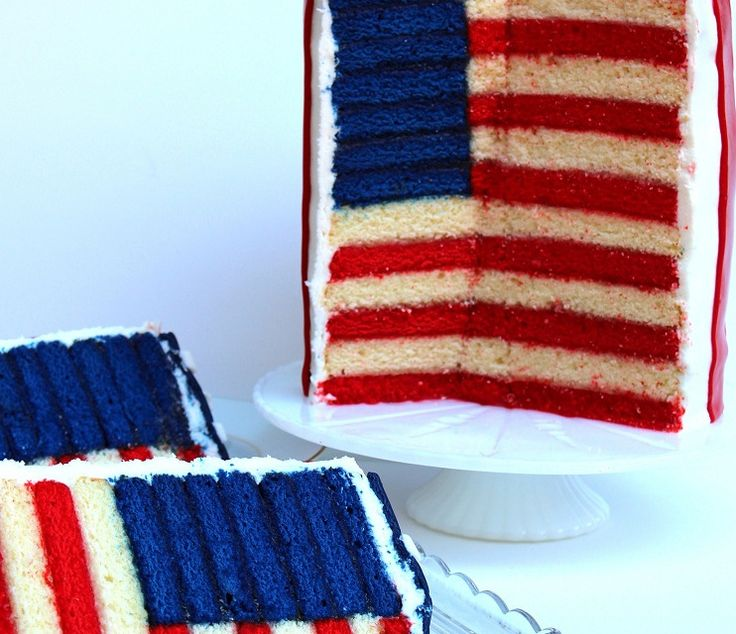 The Glorious Red, White and Blue-For Cake