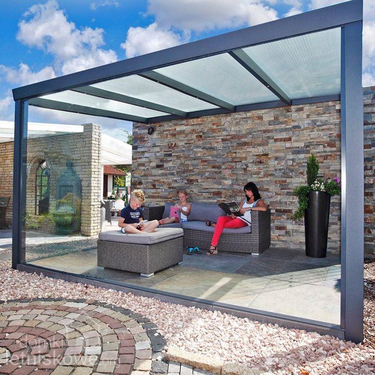 Zadaszenie Gardendreams z dachem poliwęglanowym (Aluminium terrace roofing with polycarbonate)