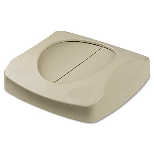 #manythings #Rubbermaid #Commercial FG268988BEIG Untouchable Square Trash Can Swing Top, Beige. Easy hygienic access for trash disposal. Swing lid design provides...