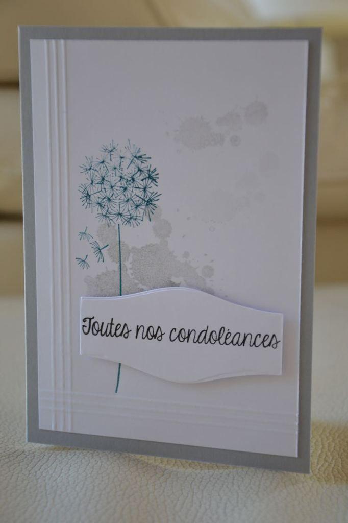 Bonjour à tous Une carte offerte à une amie lors du décès de sa maman: A très vite