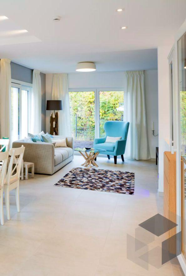 Wohnzimmer Impression Aus Einem Fischer Haus ➤ Auf Der ___ Fertighaus.de  ___ Webseite Findest