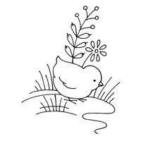 Vintage Easter Chicks pattern for embroidery ~ 2 of 2