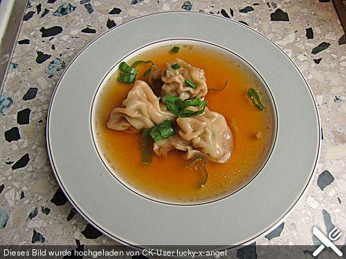 Wan Tan-Suppe mit Hackfleisch-Wan Tan