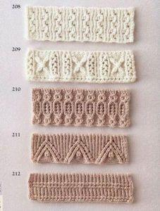 Подборка узоров для оформления края спицами (УЗОРЫ СПИЦАМИ)