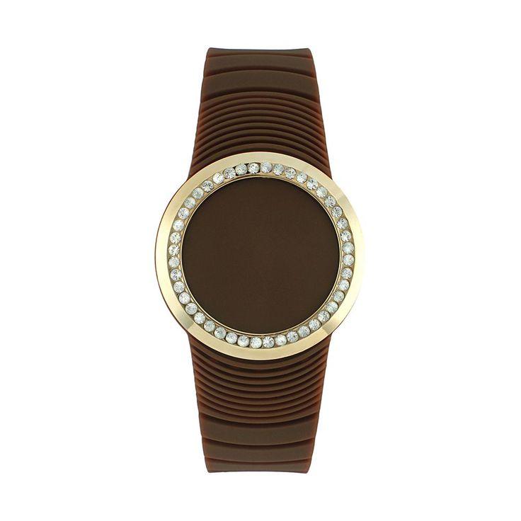 TKO Orlogi Women's Crystal Touch Digital Watch, Brown