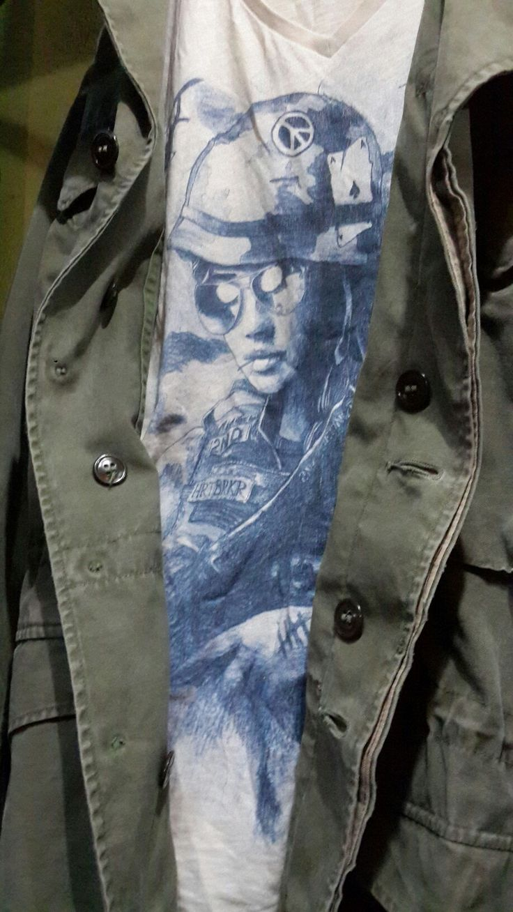 Girl soldier t-shirt & army jacket