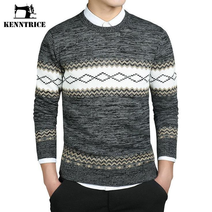 Kenntrice Argyle Pattern Sweaters Basic Men Sweater Wool Knitwear Casual Pullovers Winter 2016 Plus Size Sueter Lana Invierno