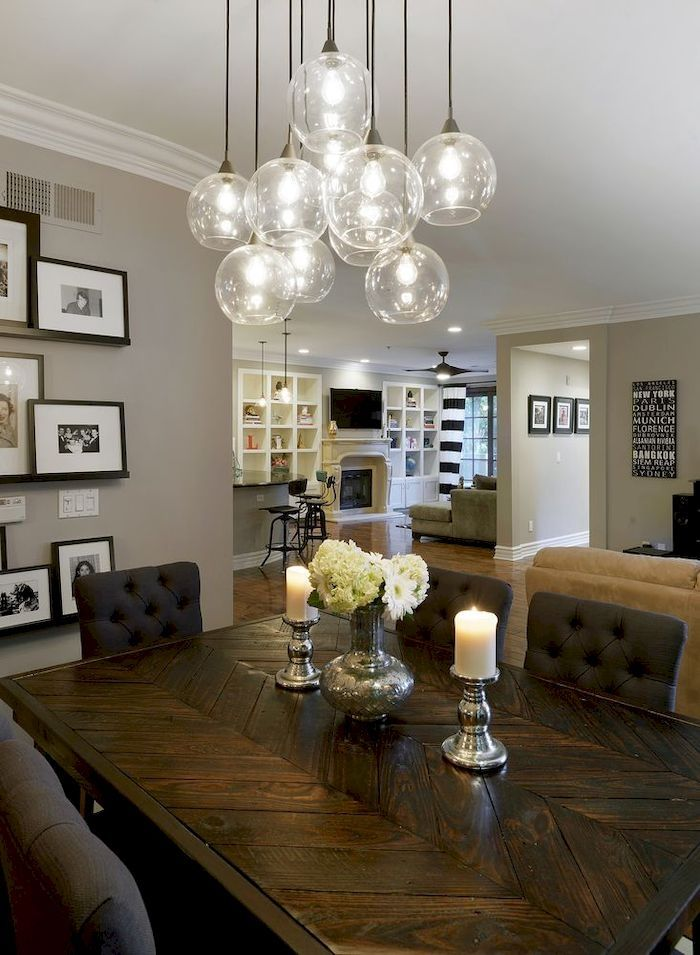 35 Amazing Dining Room Lighting Ideas For Big Family Lampu Rumah Pinterest