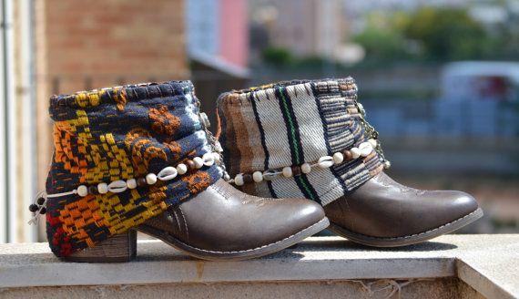 Brown BOOTS COWBOY Boots Women Boots Morocan por MISIGABRIELLA
