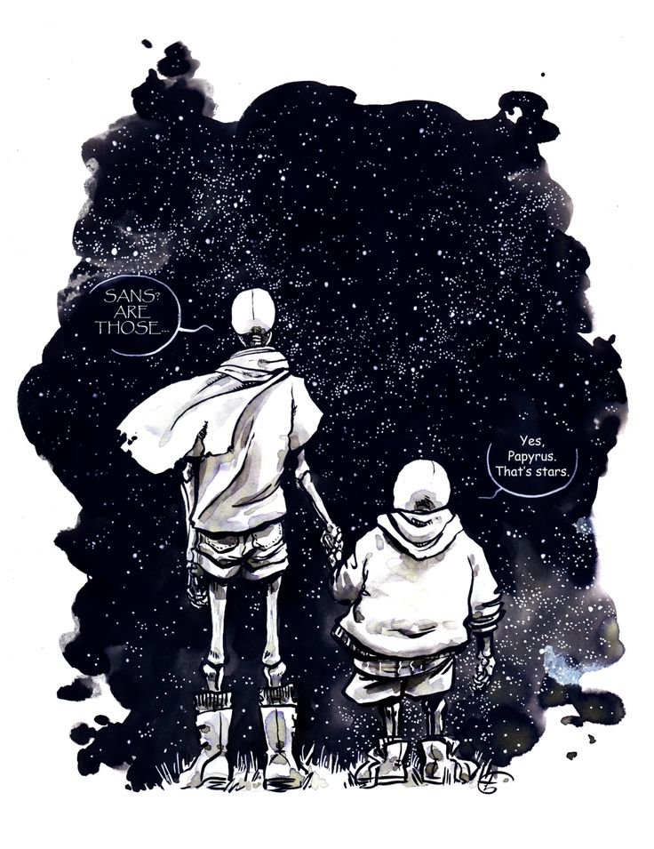 First meeting between the skelbros and the stars.