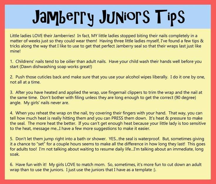Jamberry Junior tips. To shop, visit kristenfett.jamberrynails.net
