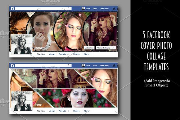 5 Facebook cover photo collage by aivos on @creativemarket ...
