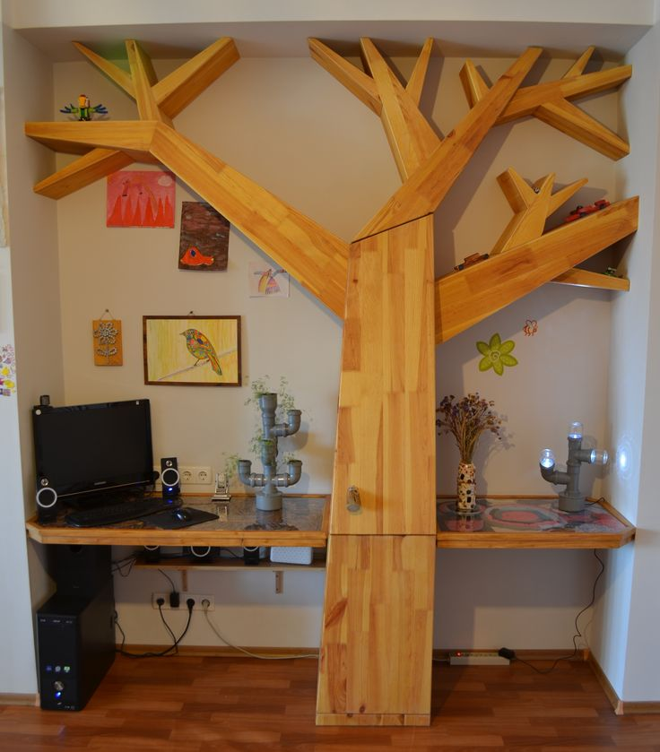 Tree Shelves and Workspace