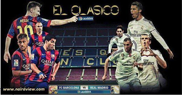 El Clasico: Barcelona vs Real Madrid today at 4:15 PM ...